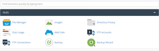 cPanel Main - tab file