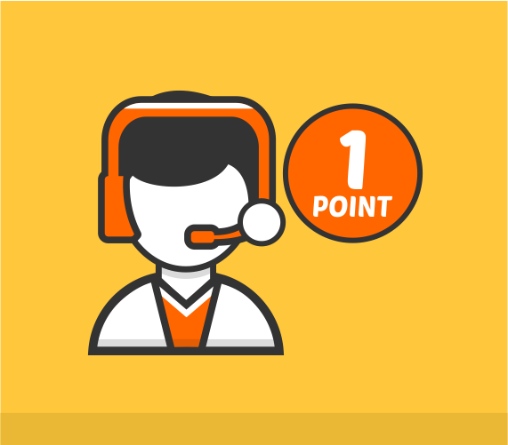1 Point Support Extended Support